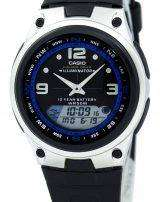 Casio Analog Digital Out Gear Fishing Illuminator AW-82-1AVDF AW-82-1AV Mens Watch