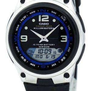 Casio Analog Digital Out Gear Fishing Illuminator AW-82-1AVDF AW-82-1AV Mens Watch