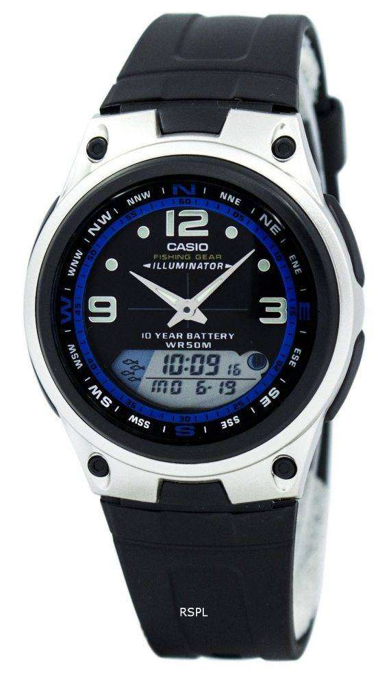 Casio Analog Digital Out Gear Fishing Illuminator AW-82-1AVDF AW-82-1AV Mens Watch 1