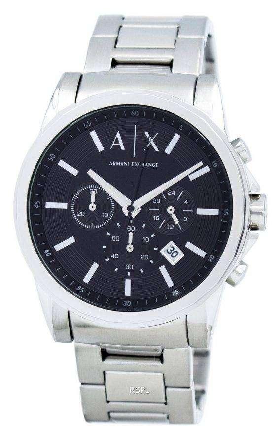 Armani Exchange Chronograph Black Dial AX2084 Mens Watch 1