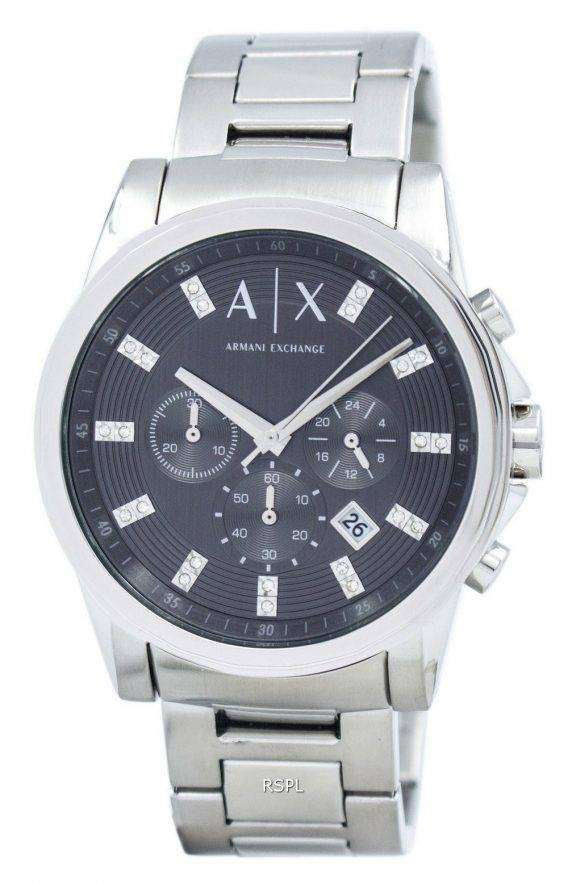Armani Exchange Chronograph Crystals Grey Dial AX2092 Mens Watch 1