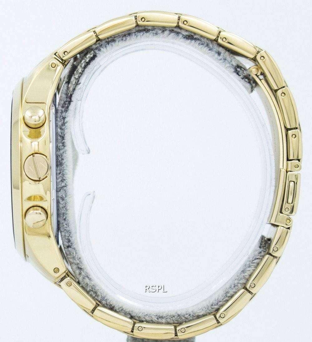 Armani Exchange Quartz Gold-Tone Chronograph Black Dial AX2137 Mens Watch