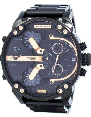 Diesel Mr. Daddy 2.0 Oversized Chronograph Black Dial DZ7312 Mens Watch