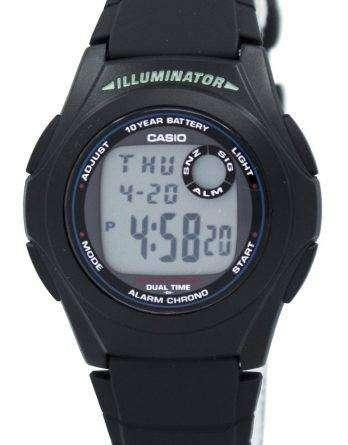 Casio G-Shock Illuminator Dual Time Alarm Chrono F-200W-1A Men's Watch