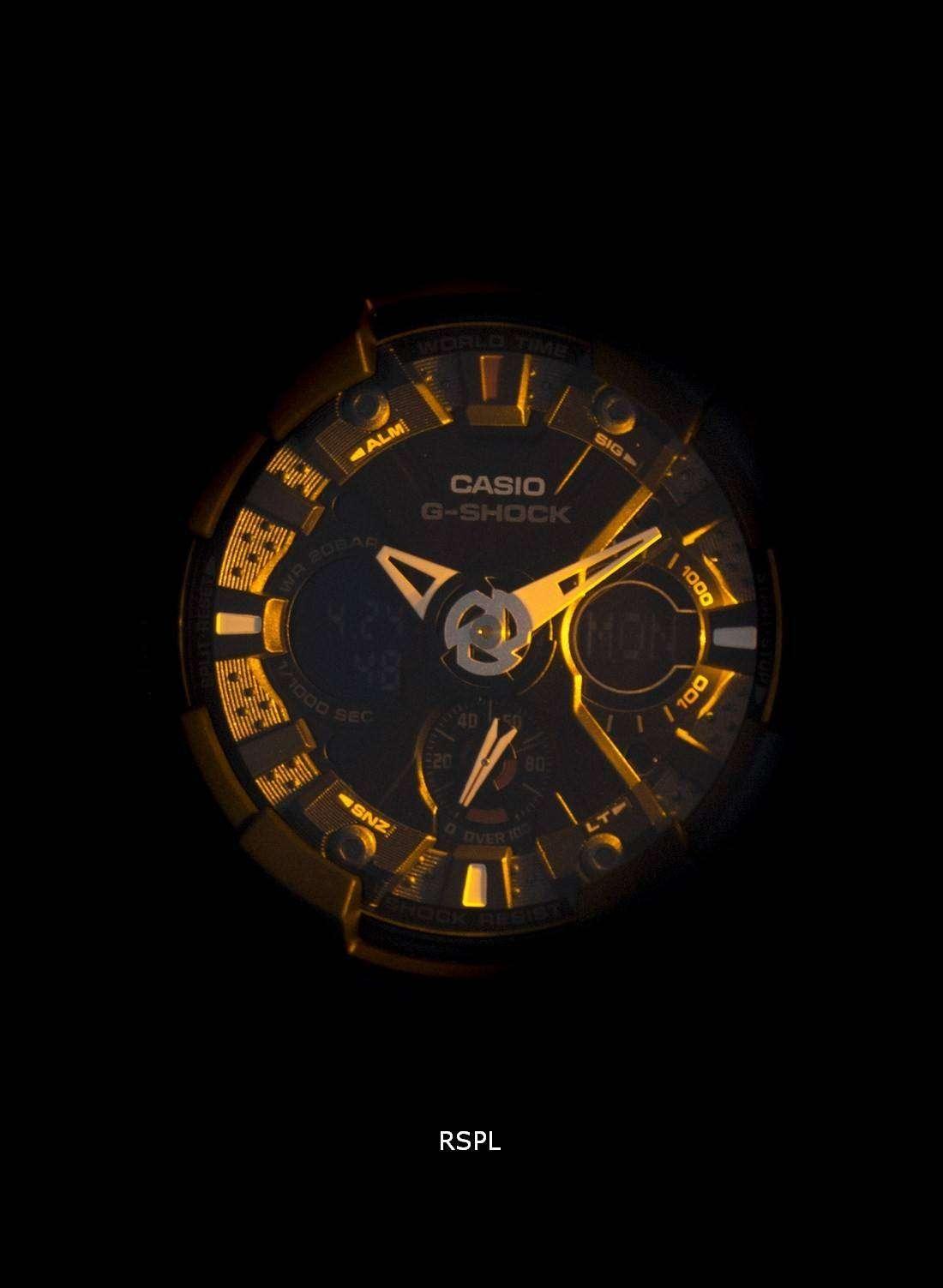 casio g shock ga 120 1a black analog digital mens watch downunderwatches. Black Bedroom Furniture Sets. Home Design Ideas