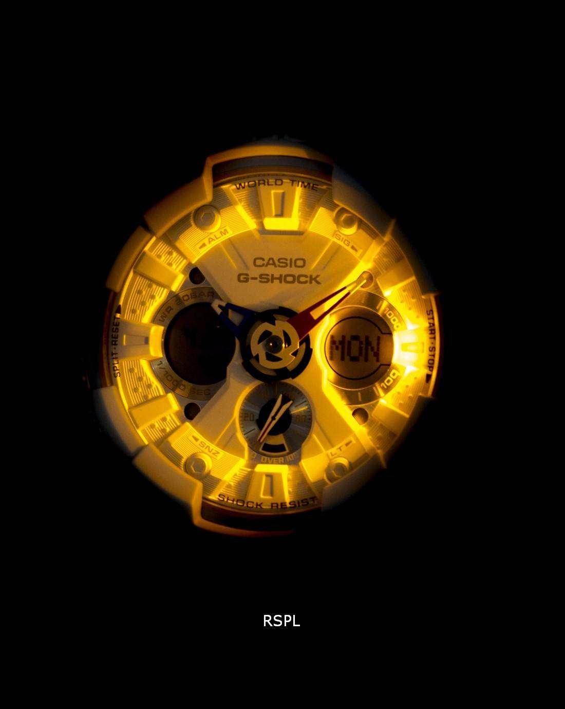 Casio G Shock Ga 120trm 7a White Mens Watch Daftar Harga Terkini 201tr 7adr Jam Tangan Pria Resin Analog Digital World Time Alarm