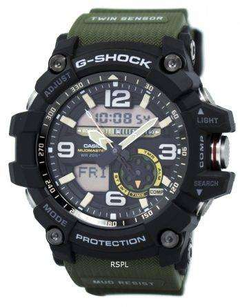 Casio G-Shock Mudmaster Analog Digital Twin Sensor GG-1000-1A3 Men's Watch