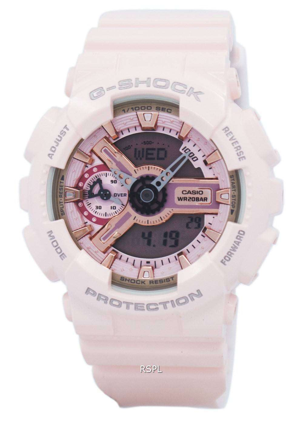 Casio G Shock S Series Analog Digital 200m Gma S110mp 4a1 Womens Dw 6900nb 7dr