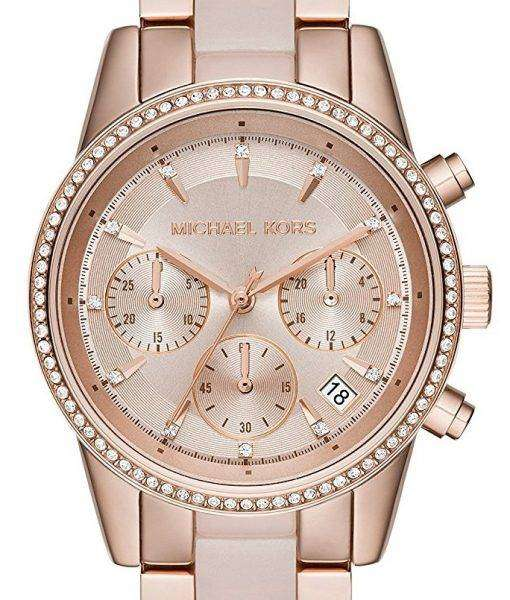 Michael Kors Ritz Chronograph Quartz Crystal Accent MK6307 Women's Watch 1