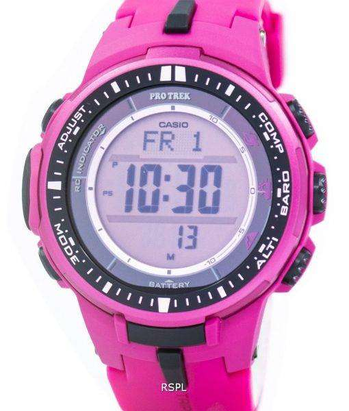 Casio Protrek Atomic Tough Solar Triple Sensor Pink PRW-3000-4B Mens Watch 1