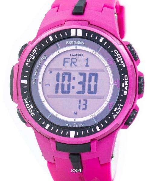 Casio Protrek Atomic Tough Solar Triple Sensor Pink PRW-3000-4B Mens Watch 1