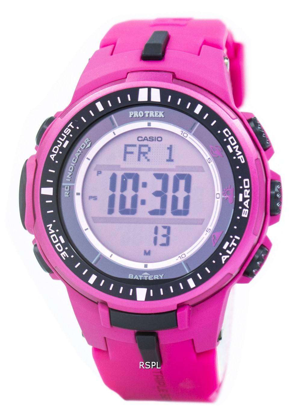 Casio Protrek Atomic Tough Solar Triple Sensor Pink Prw