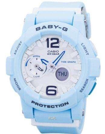 Casio Baby-G Shock Resistant Tide Graph Analog Digital BGA-180BE-2B Women's Watch