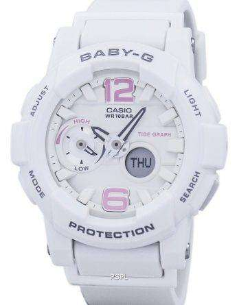 Casio Baby-G Shock Resistant Tide Graph Analog Digital BGA-180BE-7B Women's Watch