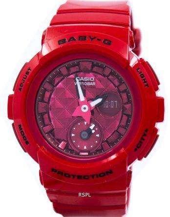 Casio Baby-G Shock Resistant World Time Analog Digital BGA-195M-4A Women's Watch