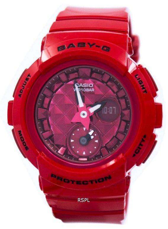 Casio Baby-G Shock Resistant World Time Analog Digital BGA-195M-4A Women's Watch 1