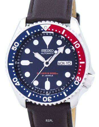 Seiko Automatic Diver's Ratio Dark Brown Leather SKX009J1-LS11 200M Men's Watch