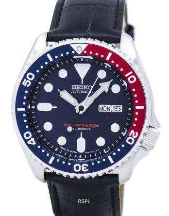 Seiko Automatic Diver's Ratio Black Leather SKX009J1-LS6 200M Men's Watch