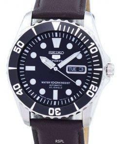 Seiko 5 Sports Automatic 23 Jewels Ratio Dark Brown Leather SNZF17J1-LS11 Men's Watch
