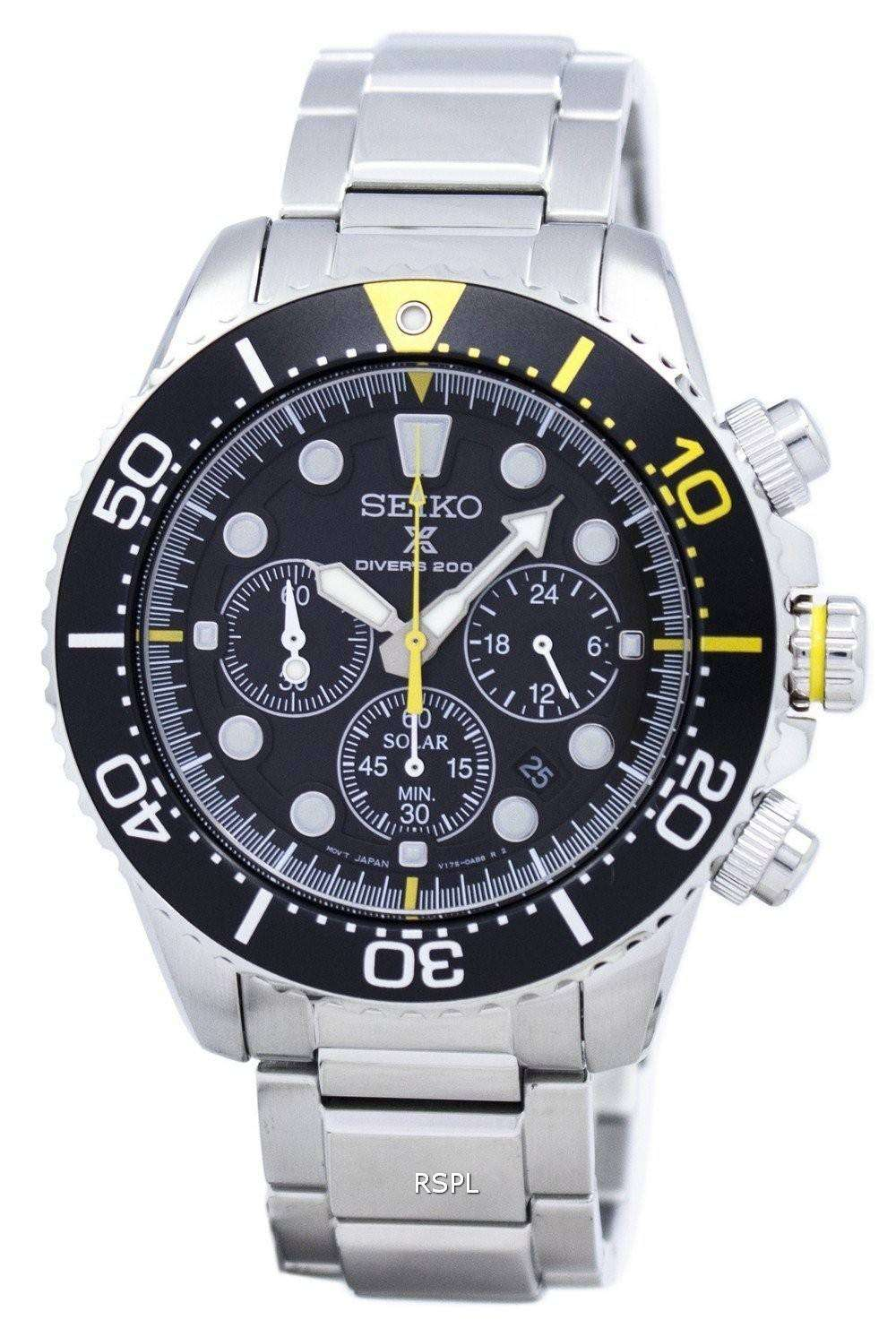 seiko prospex diver 39 s solar chronograph 200m ssc613. Black Bedroom Furniture Sets. Home Design Ideas