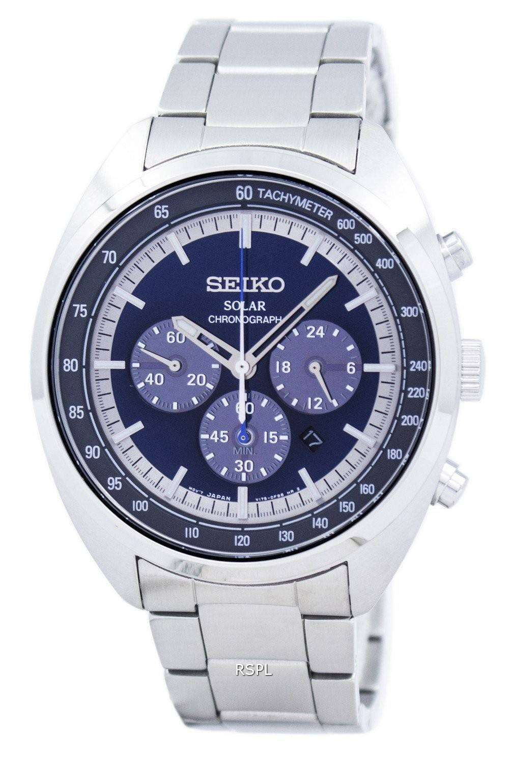 seiko solar chronograph tachymeter ssc619 ssc619p1 ssc619p. Black Bedroom Furniture Sets. Home Design Ideas