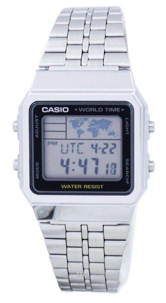 Casio Alarm World Time Digital A500WA-1DF Men's Watch 1