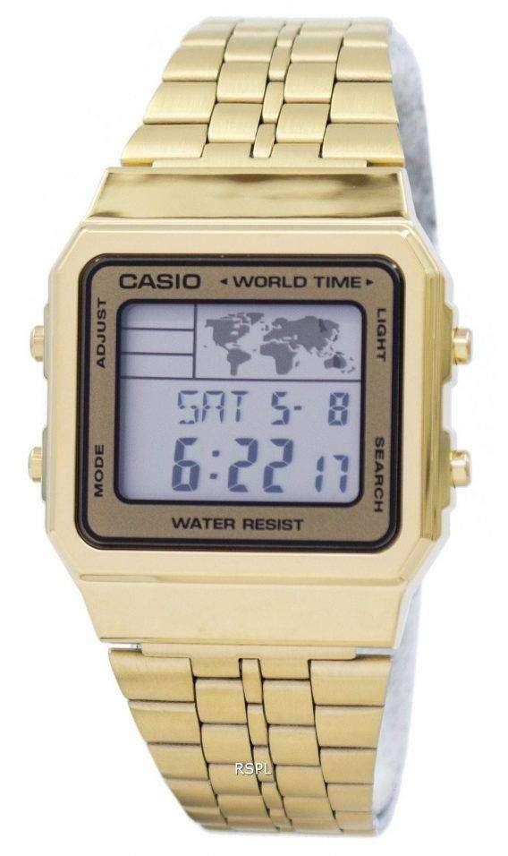 Casio Alarm World Time Digital A500WGA-9DF Men's Watch 1
