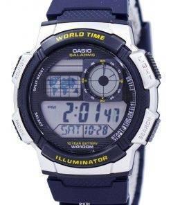 Casio Illuminator World Time Alarm AE-1000W-2AV Men's Watch