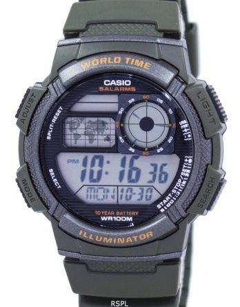 Casio Illuminator World Time Alarm Digital AE-1000W-3AV Men's Watch