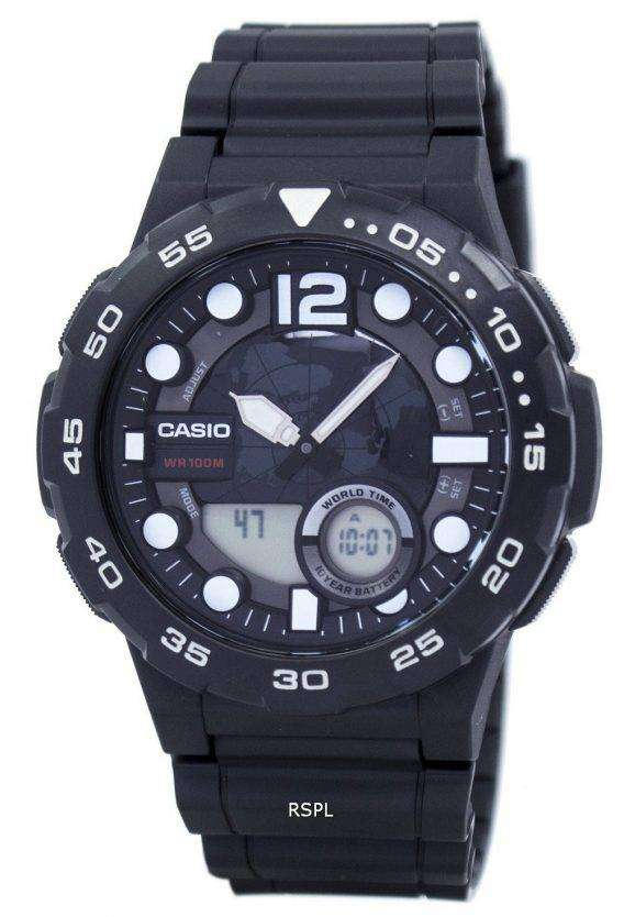Casio World Time Alarm Analog Digital AEQ-100W-1AV Men's Watch 1