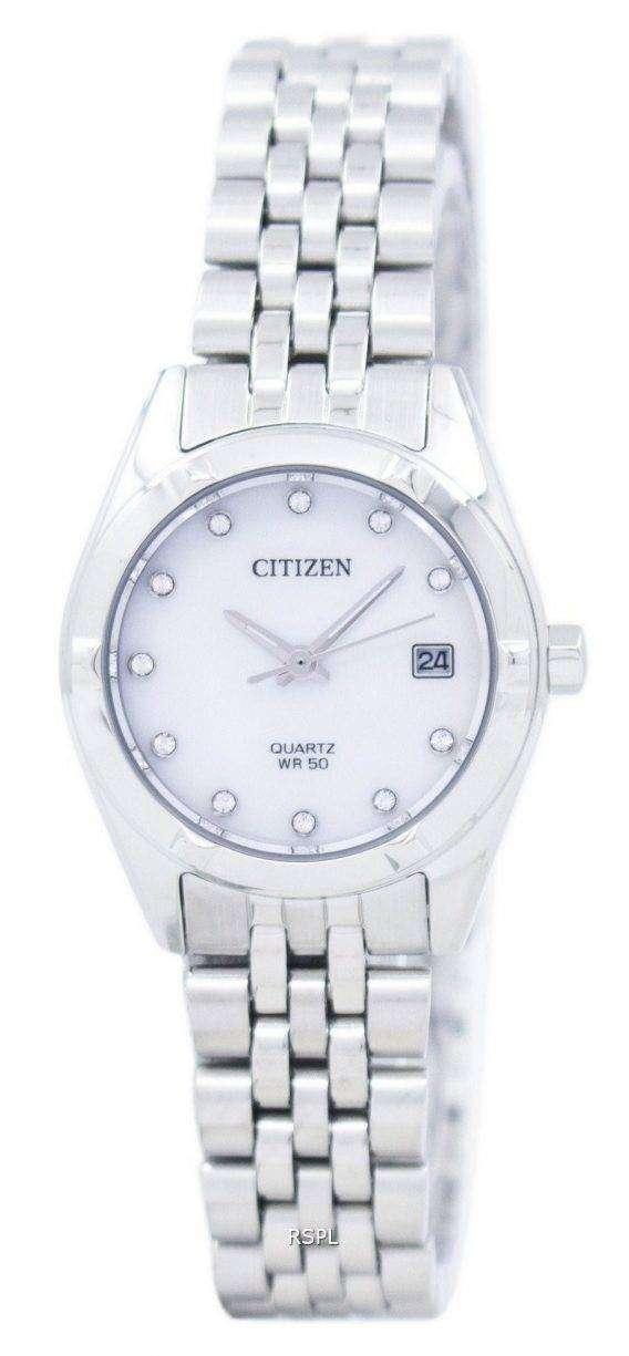 Citizen Analog Quartz Diamond Accent EU6050-59D Women's Watch 1