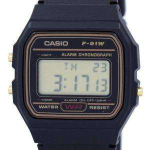 Casio Alarm Chronograph Digital F-91WG-9S Men's Watch