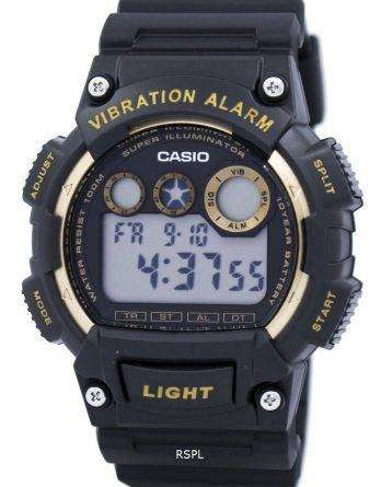 Casio Super Illuminator Vibration Alarm Digital W-735H-1A2V Men's Watch