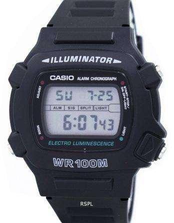 Casio Illuminator Electro Luminescence Chronograph Alarm W-740-1V Men's Watch