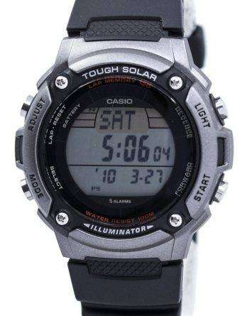 Casio Tough Solar Illuminator Lap Memory 120 Digital W-S200H-1AV Men's Watch