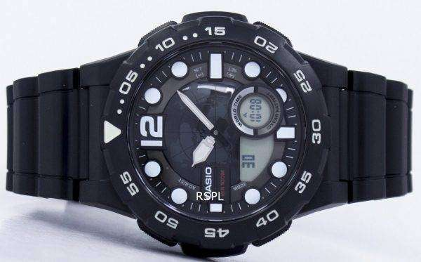 Casio World Time Alarm Analog Digital AEQ-100W-1AV Men's Watch
