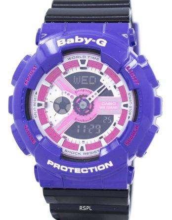 Casio Baby-G World Time Shock Resistant Analog Digital BA-110NC-6A Women's Watch