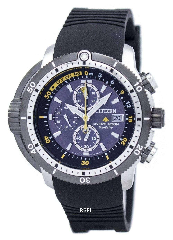 6cb473673be Citizen Promaster Aqualand Diver Eco-Drive Chronograph BJ2127-16E Men s  Watch ...
