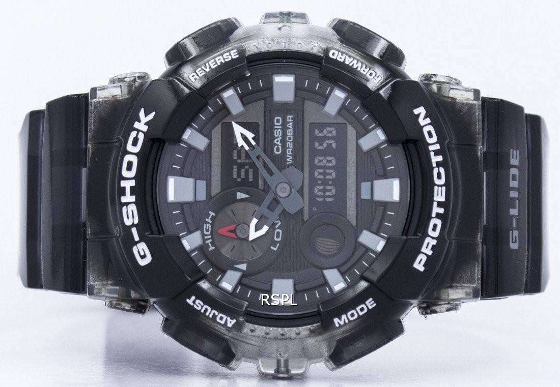 Casio G Shock Lide Tide Graph Thermometer Moon Phase Gax 100msb 1a 100a 7adr Origina