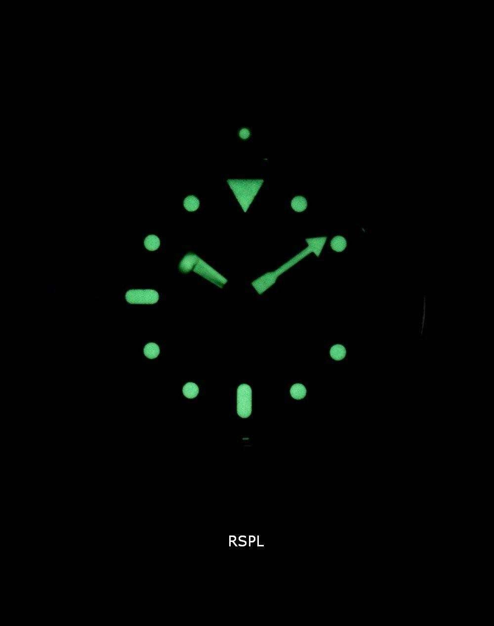 Seiko Automatic Diver's Ratio Black Leather SKX009J1-LS10 200M Men's Watch