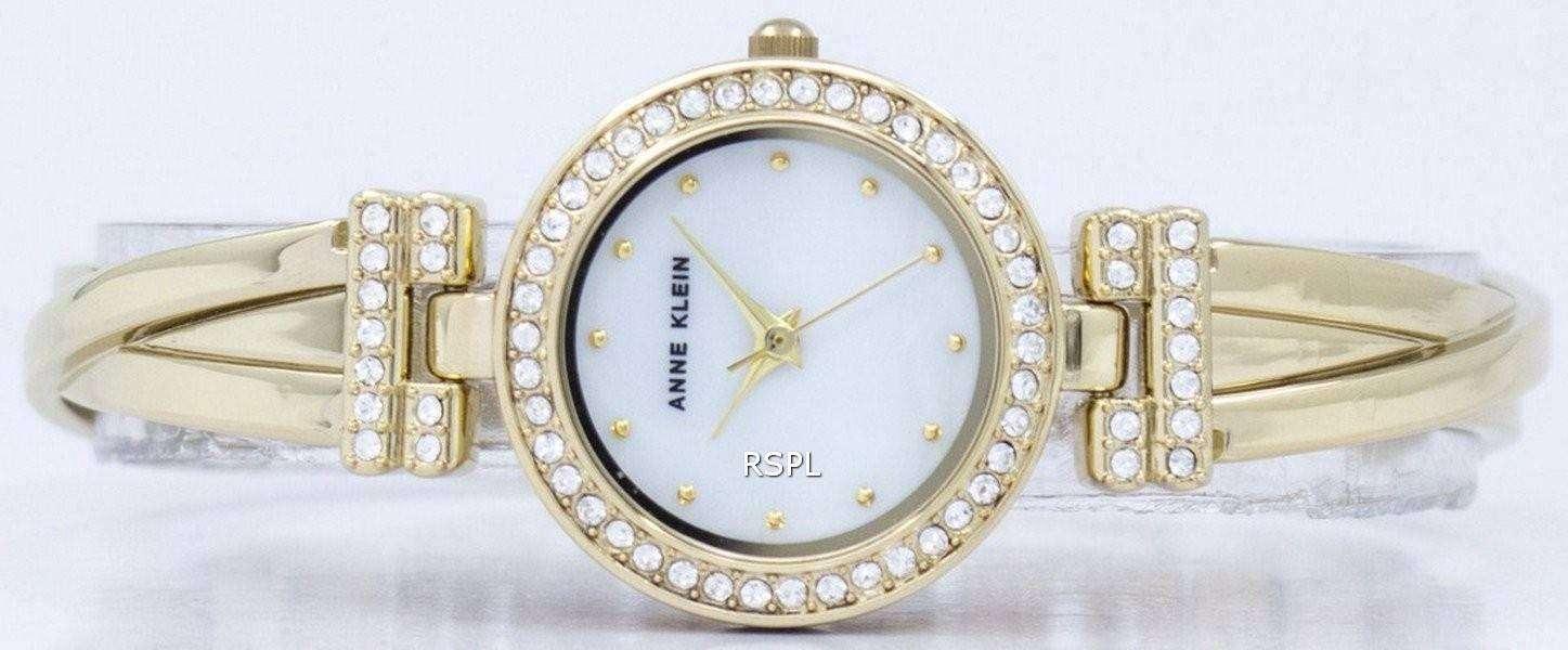 Anne klein quartz swarovski crystal 1868gbst women 39 s watch downunderwatches for Anne klein swarovski crystals