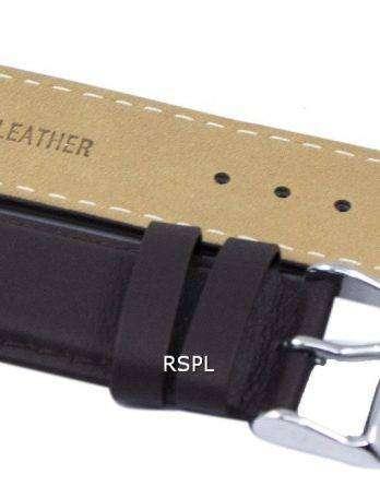 Dark Brown Ratio Brand Leather Strap 22mm For SKX007, SKX009, SKX011, SNZG07, SNZG015
