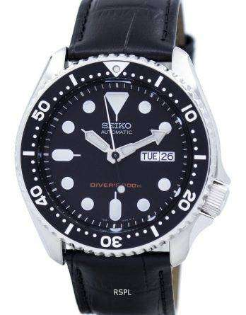 Seiko Automatic Diver's 200M Ratio Black Leather SKX007K1-LS6 Men's Watch