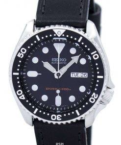 Seiko Automatic Diver's 200M Ratio Black Leather SKX007K1-LS8 Men's Watch