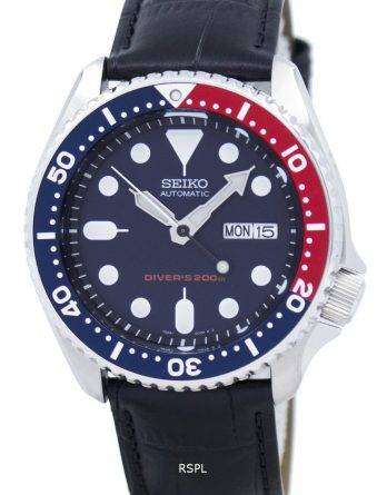 Seiko Automatic Diver's 200M Ratio Black Leather SKX009K1-LS6 Men's Watch