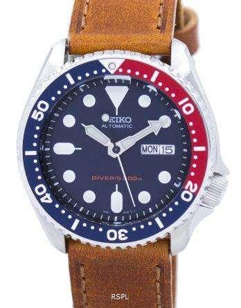 Seiko Automatic Diver's 200M Ratio Brown Leather SKX009K1-LS9 Men's Watch