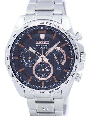 Seiko Chronograph Quartz Tachymeter SSB307 SSB307P1 SSB307P Men's Watch
