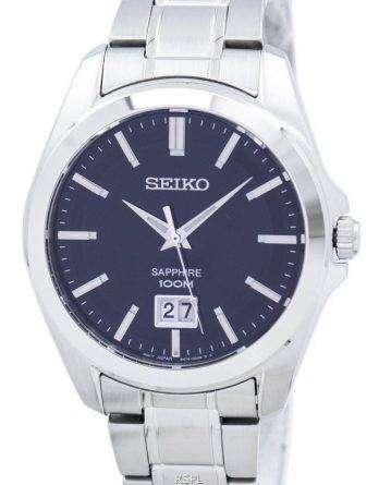 Seiko Quartz Sapphire Stainless Steel SUR009P1 SUR009P SUR009 Mens Watch