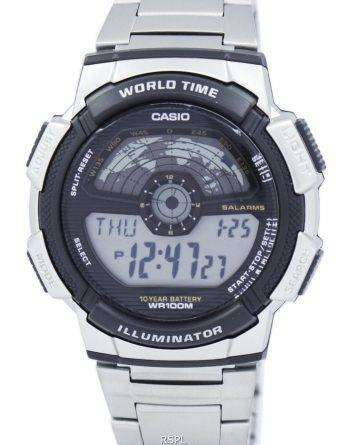 Casio Youth Illuminator World Time Digital AE-1100WD-1AV AE1100WD-1AV Men's Watch