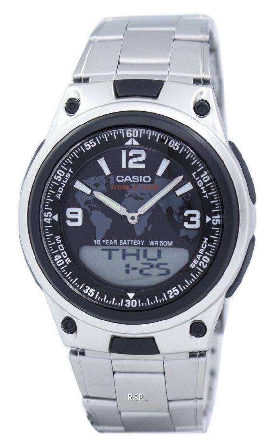 Casio World Time Databank Analog Digital AW-80D-1A2V AW80D-1A2V Men's Watch 1